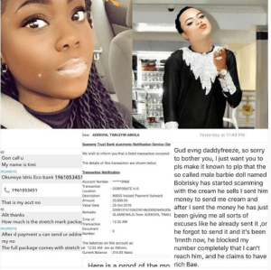 Lady calls out Bobrisky for blocking her number after receiving money from her for his product